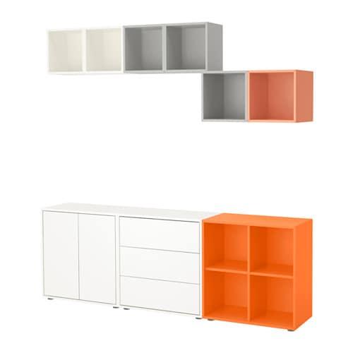 eket schrankkombination f e bunt ikea. Black Bedroom Furniture Sets. Home Design Ideas