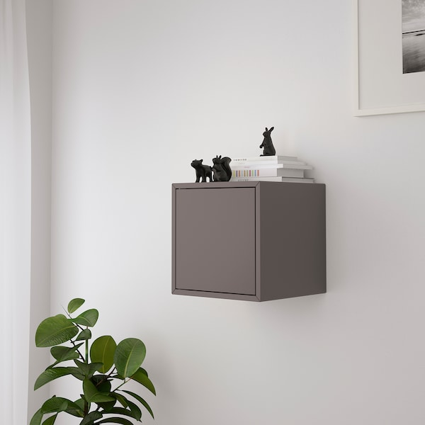 EKET Schrankkombination für Wandmontage, dunkelgrau, 35x35x35 cm