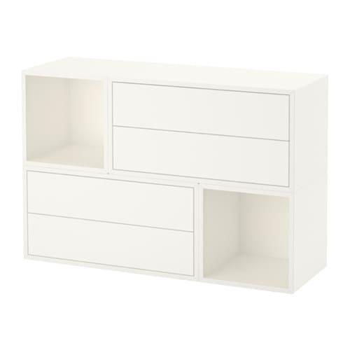 eket schrankkombination f r wandmontage wei ikea. Black Bedroom Furniture Sets. Home Design Ideas