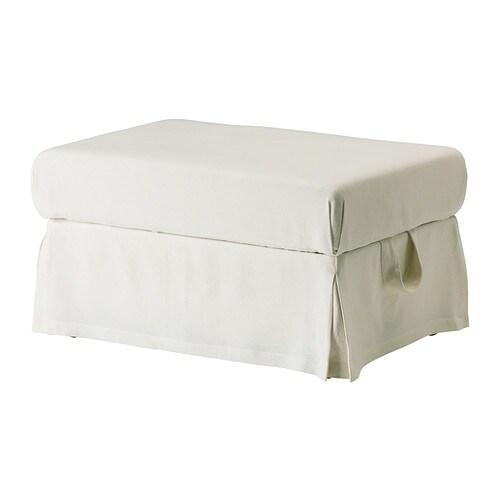 ektorp bezug hocker sten sa wei ikea. Black Bedroom Furniture Sets. Home Design Ideas