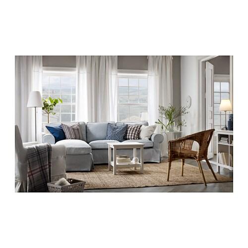 Ektorp 3Er-Sofa - Mit Récamiere/Nordvalla Hellblau - Ikea