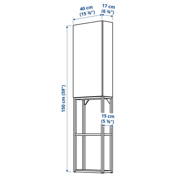 ENHET Aufbewkombi für Wand, anthrazit/weiß, 40x17x150 cm