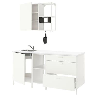 ENHET Küche, weiß, 183x63.5x222 cm