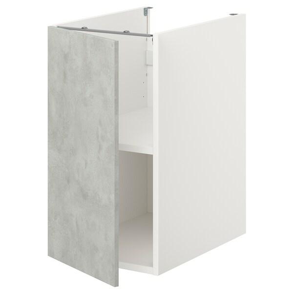 ENHET Unterschrank mit Böden/Tür, weiß/Betonmuster, 40x62x75 cm