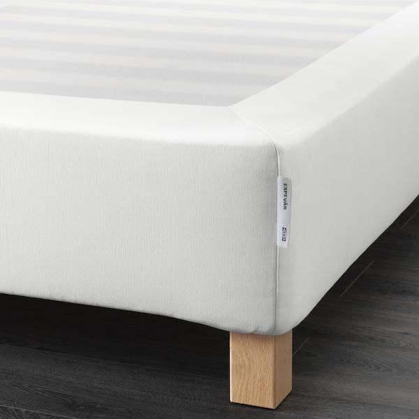 ESPEVÄR Bettgestell mit Lattenrost, weiß, 180x200 cm