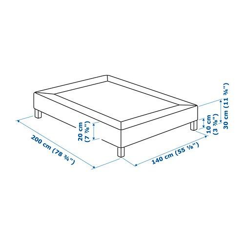 Espevar Bettgestell Mit Lattenrost 180x200 Cm Bjorli Ikea