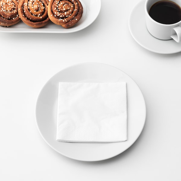 FANTASTISK Papierserviette weiß 24 cm 24 cm 50 Stück