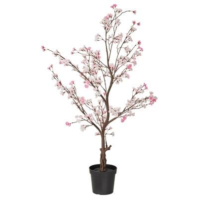 FEJKA Topfpflanze, künstlich, drinnen/draußen/Kirschblüten rosa, 15 cm