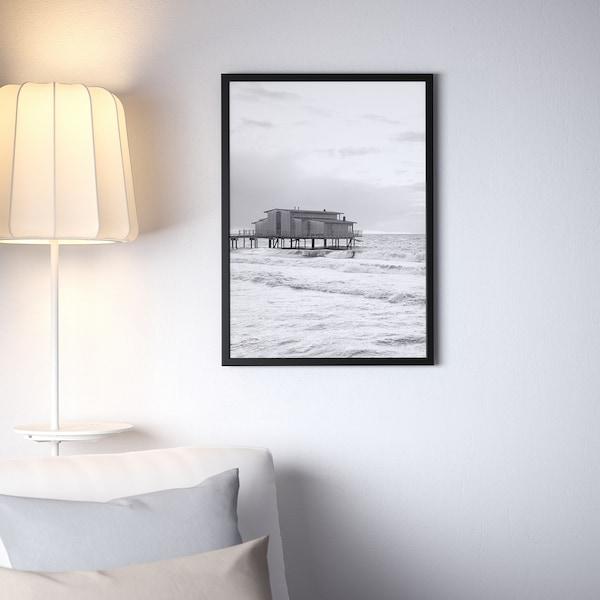 FISKBO Rahmen, schwarz, 50x70 cm