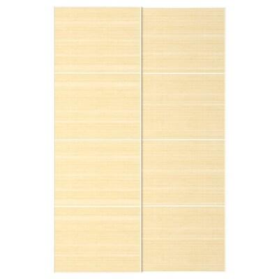 FJELLHAMAR Schiebetürpaar Bambus hell 150 cm 236 cm 8.0 cm 2.3 cm