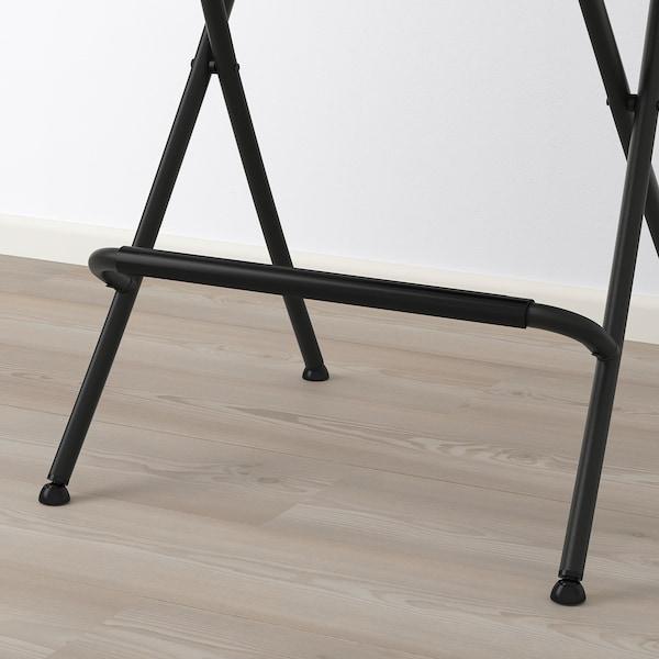 FRANKLIN Barhocker, zusammenklappbar, schwarz/schwarz, 63 cm