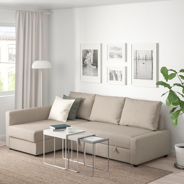 FRIHETEN Eckbettsofa mit Bettkasten Hyllie beige 230 cm 151 cm 66 cm 140 cm 204 cm