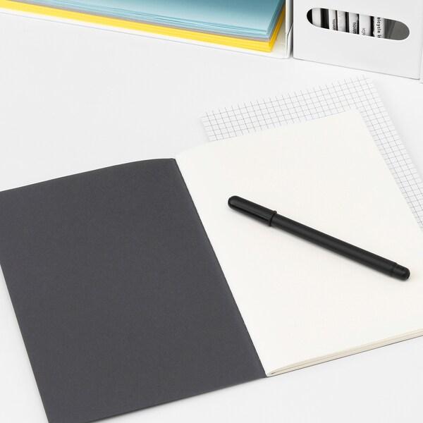 FULLFÖLJA Notizbuch schwarz 40 Stück 21.0 cm 14.5 cm 0.5 cm 80 g/m²