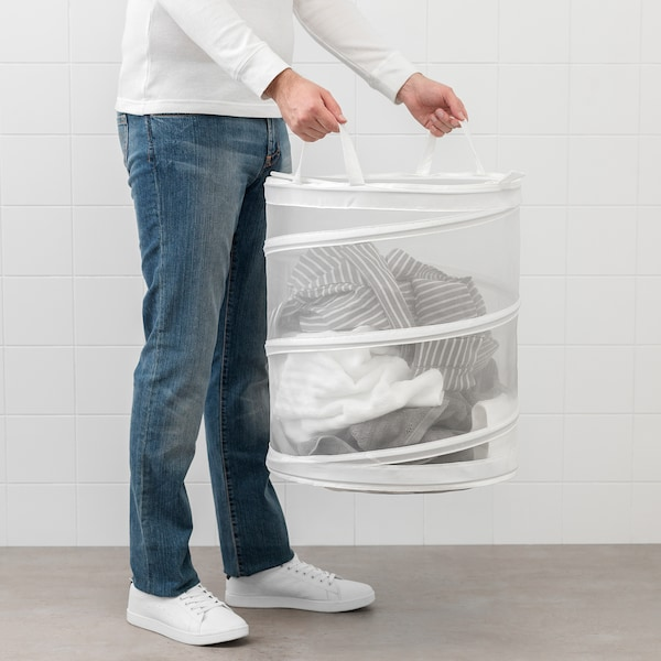 FYLLEN Wäschekorb weiß 50 cm 45 cm 79 l
