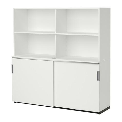 GALANT Aufbewahrung mit Schiebetüren  weiß  IKEA~ Ikea Galant Jalousieschrank Weiß