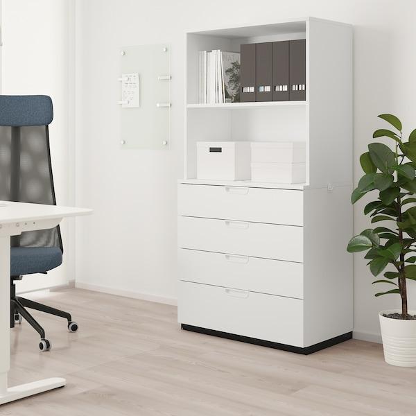 GALANT Aufbewahrung mit Schubladen, weiß, 80x160 cm