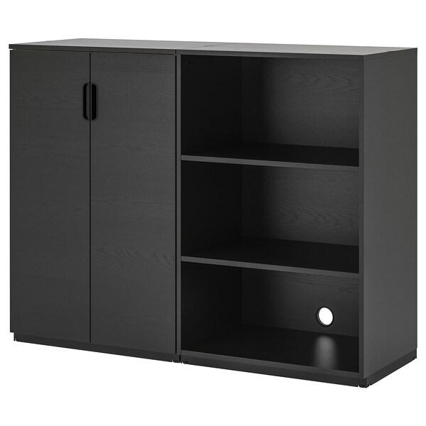 GALANT Aufbewahrungskombi, schwarz gebeiztes Eschenfurnier, 160x120 cm