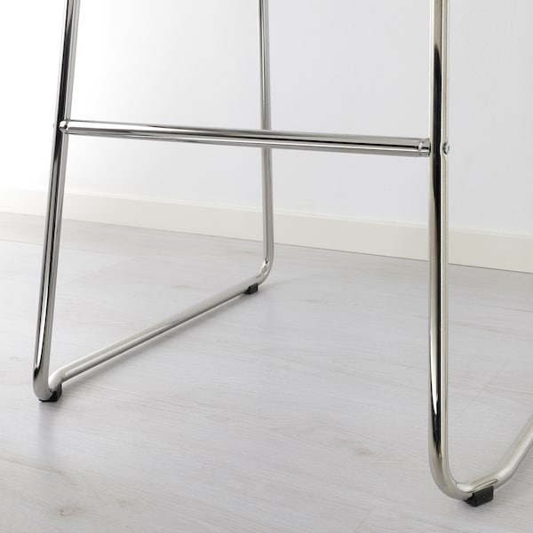 GLENN Barhocker, weiß/verchromt, 77 cm