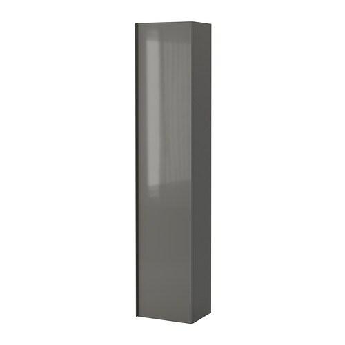godmorgon hochschrank hochglanz grau ikea. Black Bedroom Furniture Sets. Home Design Ideas