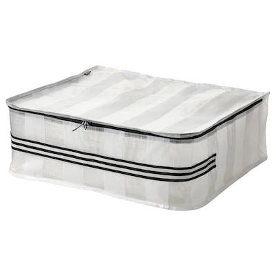 GÖRSNYGG Tasche, weiß/transparent, 55x49x19 cm