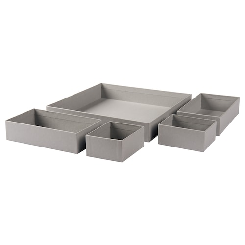 IKEA GRÅSIDAN Box 5er-set