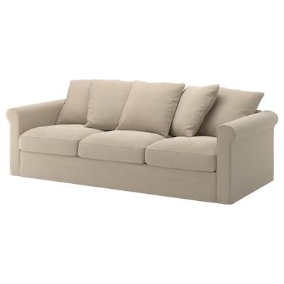 GRÖNLID 3er-Sofa Sporda naturfarben 104 cm 247 cm 98 cm 7 cm 18 cm 68 cm 211 cm 60 cm 49 cm
