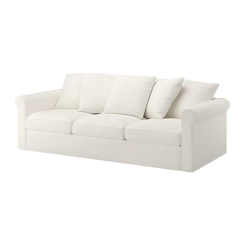 gr nlid 3er sofa inseros wei ikea. Black Bedroom Furniture Sets. Home Design Ideas