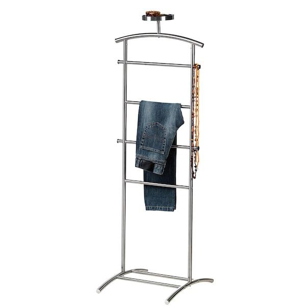 GRUNDTAL Kleiderständer, Edelstahl, 128 cm