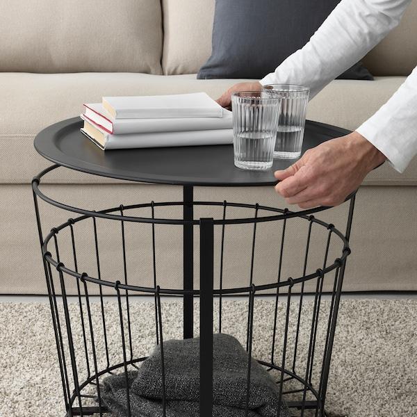 GUALÖV Aufbewahrungstisch, schwarz, 60 cm