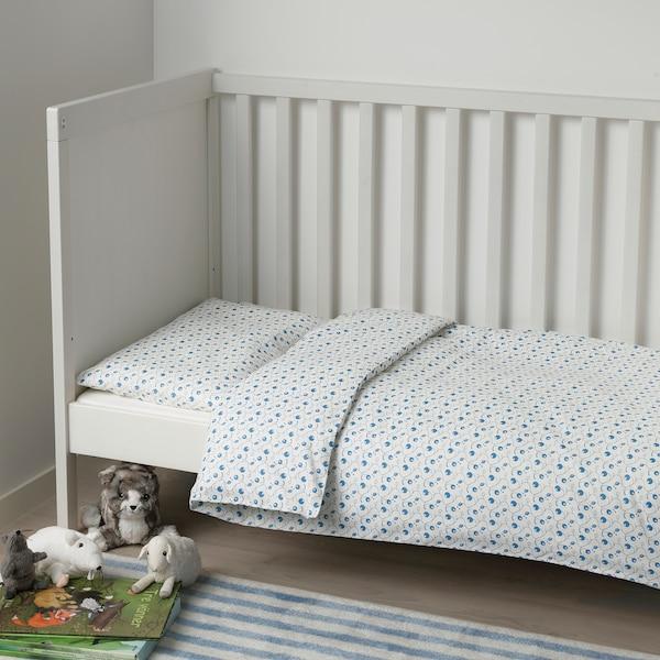 GULSPARV Bettwäsche 2-tlg. f Baby, Blaubeermuster, 110x125/35x55 cm