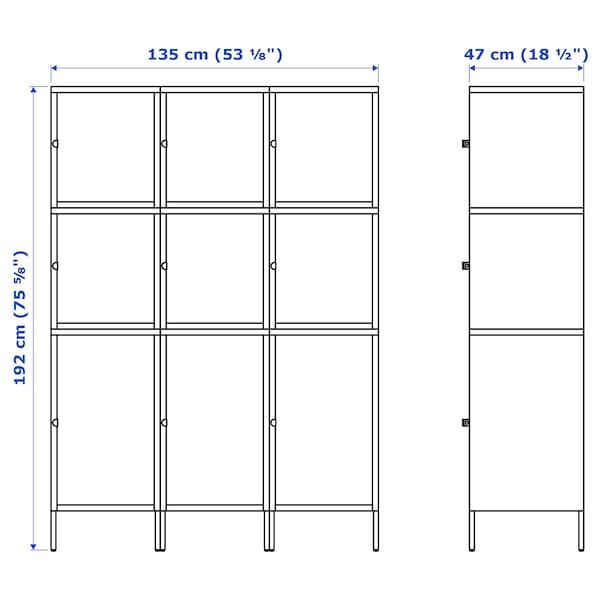 HÄLLAN Aufbewahrung mit Türen, weiß, 135x47x192 cm