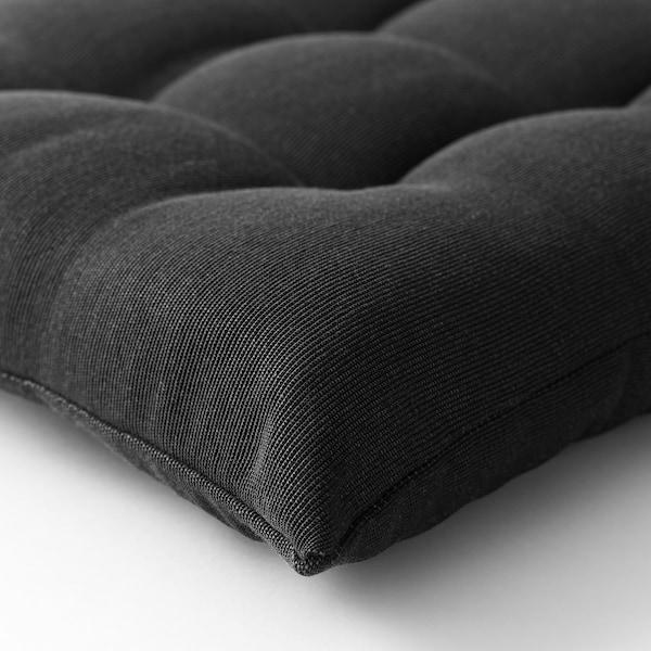 HÅLLÖ Sitz-/Rückenpolster/außen schwarz 116 cm 47 cm 68 cm 48 cm 6 cm