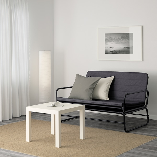 HAMMARN Bettsofa, Knisa dunkelgrau/schwarz, 120 cm