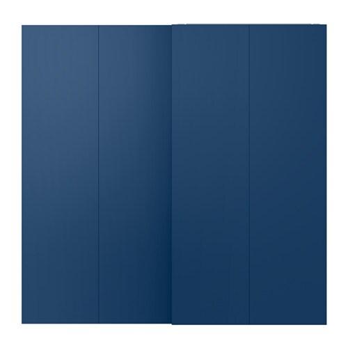 Schiebetürpaar, dunkelblau, dunkelblau, Schiebetüren
