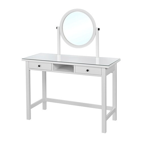 hemnes frisiertisch mit spiegel ikea. Black Bedroom Furniture Sets. Home Design Ideas