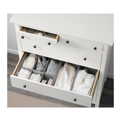 HEMNES Kommode Mit 6 Schubladen   Weiß Gebeizt   IKEA