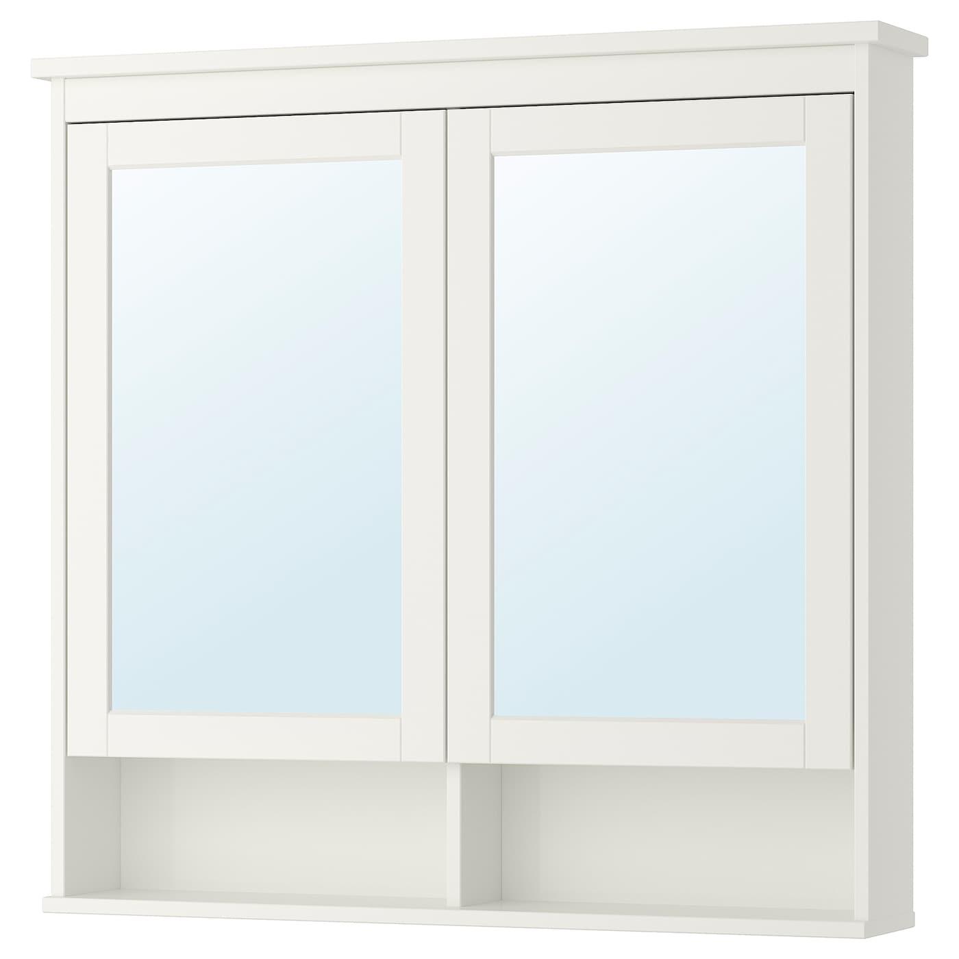 HEMNES Spiegelschrank 8 Türen - weiß 8x8x8 cm