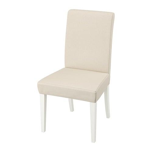 HENRIKSDAL Stuhl Linneryd Natur Weiß IKEA