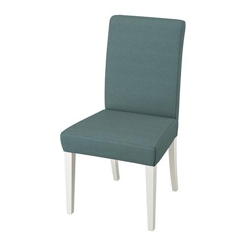 HENRIKSDAL Stuhl Finnsta Türkis Weiß IKEA