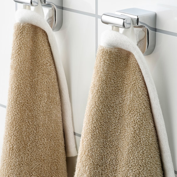 HIMLEÅN Handtuch, beige/meliert, 40x70 cm