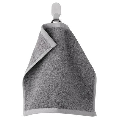 HIMLEÅN Waschlappen, dunkelgrau/meliert, 30x30 cm