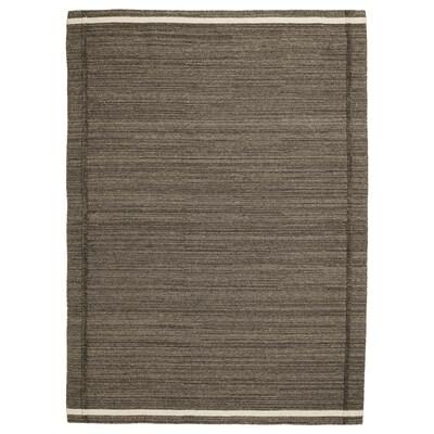 HÖJET Teppich flach gewebt, Handarbeit braun, 170x240 cm