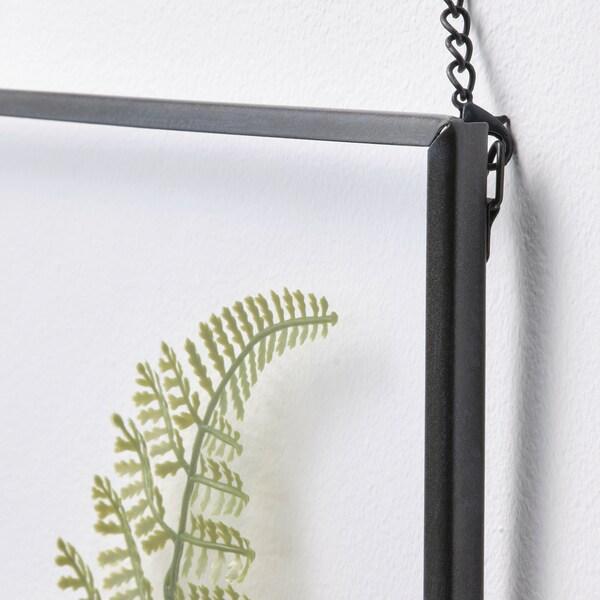 HÖSTKVÄLL Rahmen, dunkelgrau/Farn grün, 21x26 cm