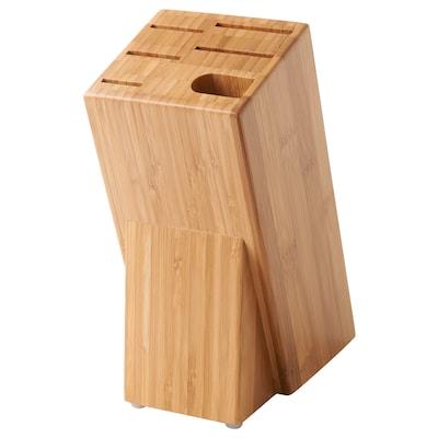 HYVLA Messerblock Bambus 10 cm 25 cm