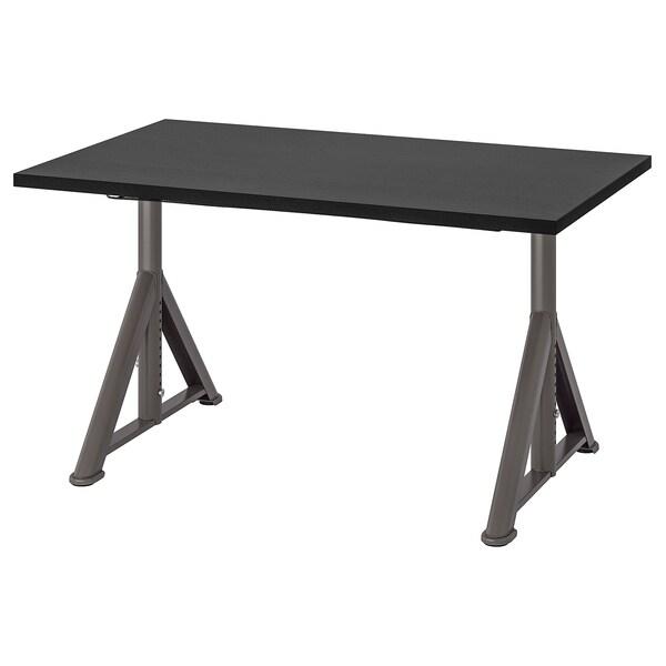 IDÅSEN Schreibtisch schwarz/dunkelgrau 120 cm 70 cm 65 cm 79 cm 70 kg