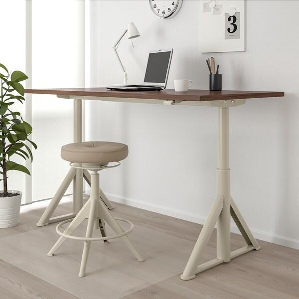 IDÅSEN Schreibtisch sitz/steh braun/beige 160 cm 80 cm 63 cm 127 cm 70 kg
