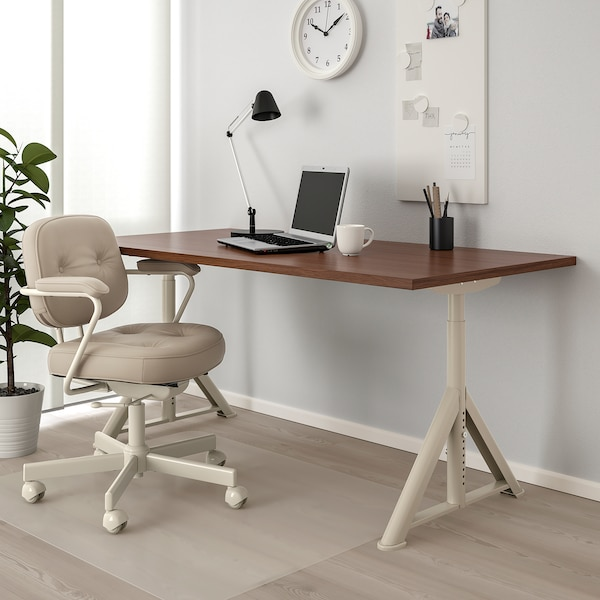 IDÅSEN Schreibtisch, braun/beige, 160x80 cm