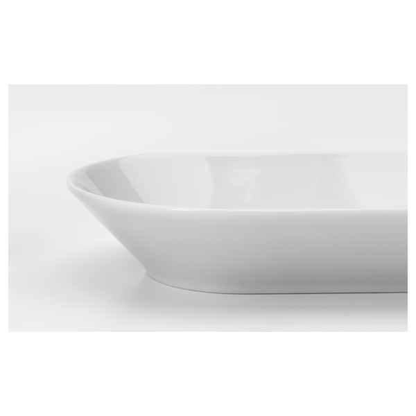 IKEA 365+ Servierplatte weiß 38 cm 22 cm 4 cm
