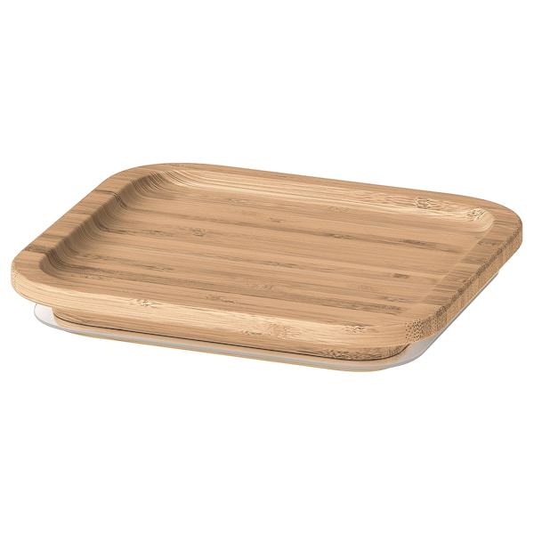 IKEA 365+ Deckel, quadratisch/Bambus
