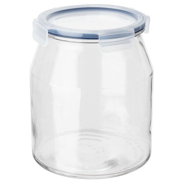 IKEA 365+ Dose mit Deckel, Glas/Kunststoff, 3.3 l